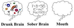 mouth vs brain